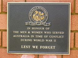 Australia Remembers Plaque : 27-September-2014
