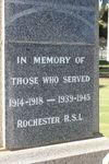 Returned Services League War Memorial : 11-August-2011