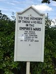 Memorial Avenue Sign : 27-05-2014