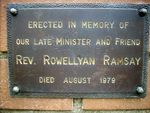 Reverend Rowellyan Ramsay : 08-February-2012