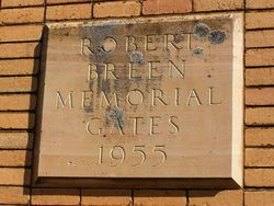 Robert Breen Plaque : 18-October-2014