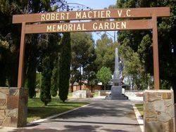 Robert Mactier V.C. Memorial Garden