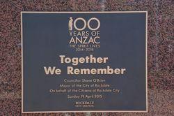 ANZAC Centenary Plaque : 05-May-2015