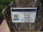 Rotary Centennial Plaque : June 2014