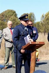 15-August-2015 : Squadron Leader Scott Harvey addressing the attendees