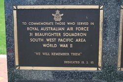31 Beaufighter Squadron Plaque : 16-November-2014