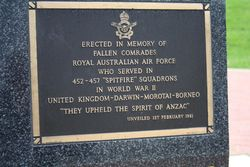 452-457 Spitfire Squadron Plaque : 16-November-2014