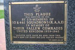 10 & 461 Squadron Plaque : 16-November-2014