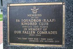 86 Squadron Plaque