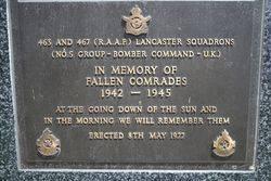 463 & 467 Squadron Plaque : 16-November-2014