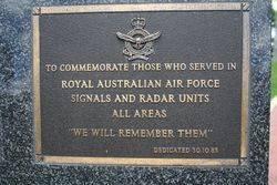 RAAF Signals & Radar Plaque : 16-November-2014