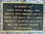Royal Marines Memorial Inscription