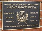 Boer War Plaque : 30-August-2014