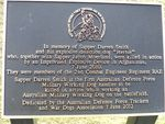 Sapper Smith & Herbie Plaque : 30-05-2014
