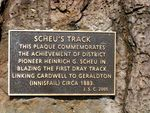 Scheus Track Inscription Plaque