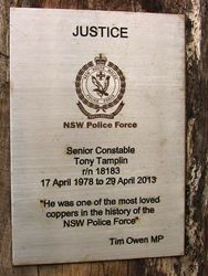 Justice Plaque : 28-December-2014