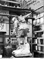 1924 : Clay model in Charles Web Gilbert`s studio : (Australian War Memorial : H15610)