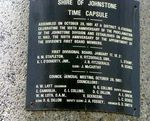 Shire of Johnstone Time Capsule Plaque