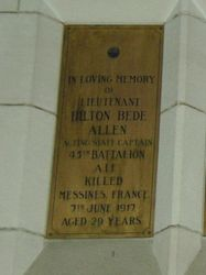 Allen Plaque : 12-September-2014