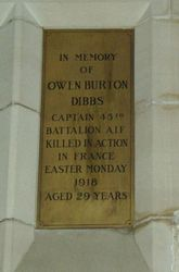 Dibbs Plaque : 12-September-2014