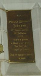 Johnson Plaque : 12-September-2014