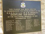 RSL Commemorative Plaque : 22-May-2014