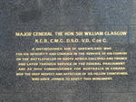 Sir Thomas William Glasgow Back inscription