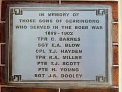 Boer War Honour Roll : 01-April-2016 (Sandra Brown)