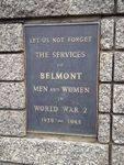 Belmont WW2 Plaque : November 2013