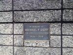 Michael Duff Plaque : November 2013