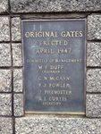 Gates Plaque : November 2013