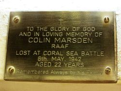 Marsden Plaque: 31-January-2015