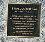 Stan Coster Inscription