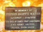 Stephen Scotty Watson Plaque