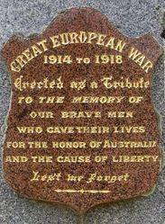 War Memorial Inscription Plaque : 08-December-2013