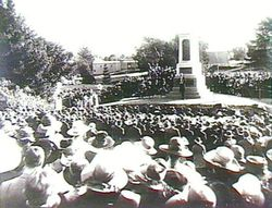 14-August-1921 : Soldier's Memorial unveiling ceremony performed by the Governor, Sir
