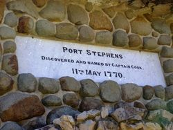 Port Stephens Plaque : 17-August-2014