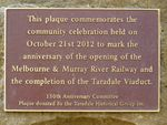 Taradale Viaduct Plaque : 15-04-2014