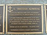 S. British Admiral Plaque : 2007