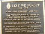 Lest We Forget -Tas Naval Servicemen: 2007