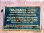 Tennant Creek Gold Rush Inscription
