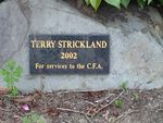 Terry Strickland Plaque : March 2014