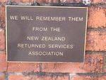 New Zealand Memorial Plaque : 26-05-2014