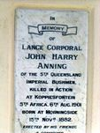The Anning Monument Inscription