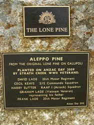 Lone Pine Plaque : 08-December-2013