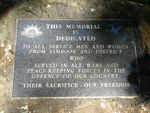 Timboon War Memorial : 11-May-2013