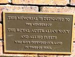 Toowoomba Naval Memorial Inscription