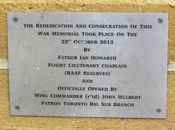 Rededication Plaque: 26-February-2016