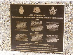 Korea Missing In Action Plaque : 17-September-2014