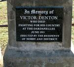 Victor Denton Memorial Inscription